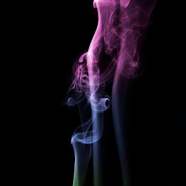 Coloured Smoke by Lee Griffiths - Abstract Patterns ( black background, colour, low key, smoke,  )