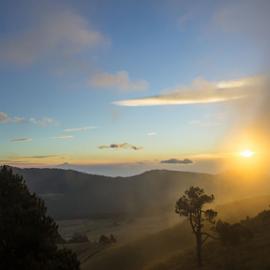 Sunrise at the Mountain by Cristobal Garciaferro Rubio - Landscapes Mountains & Hills ( clouds, mountain, fog, rise sunrise, sun )