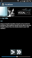 Screenshot of Vocal Ease
