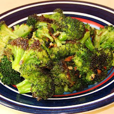Garlic-Roasted Broccoli Drizzled With Balsamic Vinegar