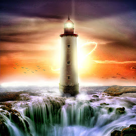 Lighthouse by Bang Munce - Digital Art Places