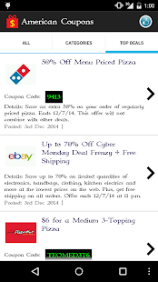 American Coupons - screenshot