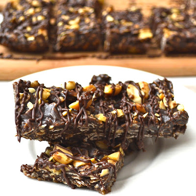 Chocolate Peanut Butter Banana Granola Bar