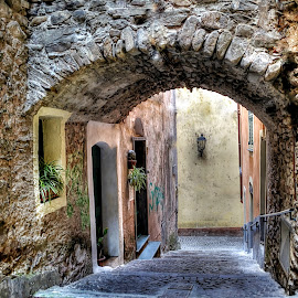 In the Borgo of dolceacqua by Roberta Sala - City,  Street & Park  Street Scenes ( dolceacqua, hdr, street, italy, street photography )
