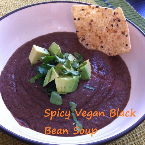 Spicy Black Bean Soup - vegan Recipe | Yummly