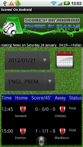 Scores On Android