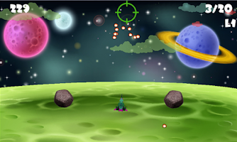 Screenshot of Meteorite Bullseye Elimimate