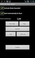 Screenshot of Status Bar Shake Opener