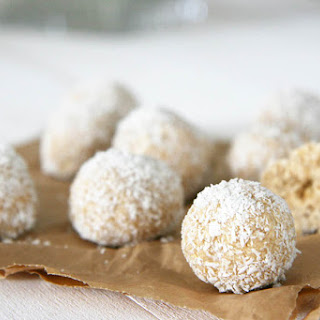No Bake Coconut Ball Dog Treats