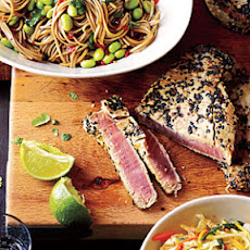 Sesame Tuna with Edamame and Soba