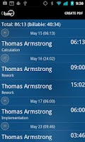 Screenshot of timr -Time and Mileage Tracker