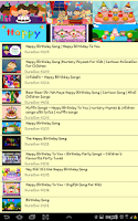 Screenshot of happy birthday song