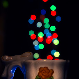 A cup of Sparkles by Sony Sugeng - Abstract Light Painting ( cup, sparkles, creative, light, bokeh,  )