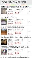 Screenshot of Local Ebay Deals Finder