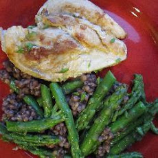 Chicken With Barley And Asparagus