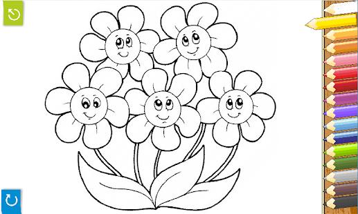 Раскраски для цветочки