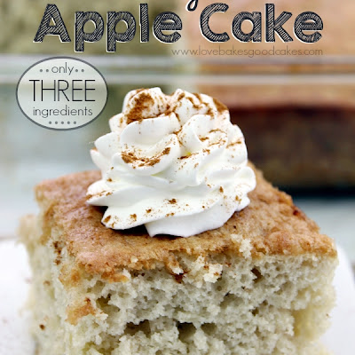 Easy Apple Cake - Only 3 Ingredients!