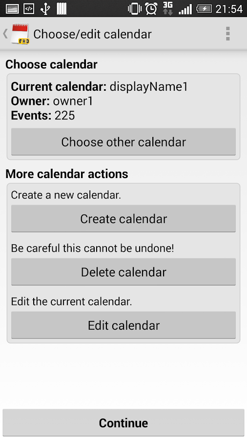 iCal Import/Export CalDAV Pro Screenshot 4