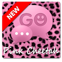 Pink Cheetah GO SMS Theme icon