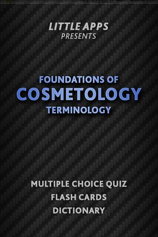 700 COSMETOLOGY Terms Quiz