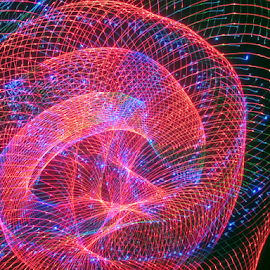 Laser tubes 2 by Jim Barton - Abstract Patterns ( laser tubes, laser light, colorful, light design, laser design, laser, light, tubes, science )