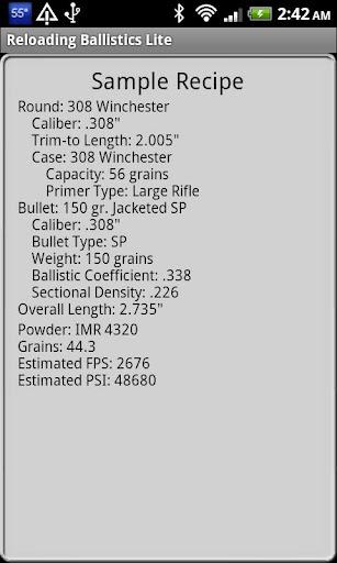 Popular 30 Cal Ballistics Data - screenshot