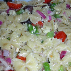 My Big Fat Greek Pasta Salad