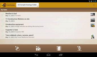 Screenshot of Field Notes