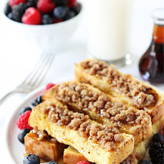 Cinnamon Streusel Baked French Toast Sticks