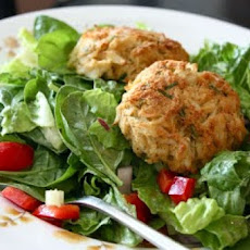 Curry Shrimp Cakes Entree Salad