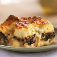 Double-Mushroom Bread Pudding