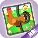 Kids Jigsaw Puzzles Farm HD icon
