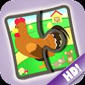 Bauernhof Puzzlespiele 123 HD icon