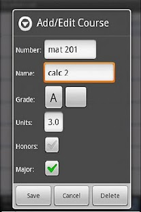 GradeDroid - screenshot