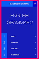 Screenshot of English Grammar Basic