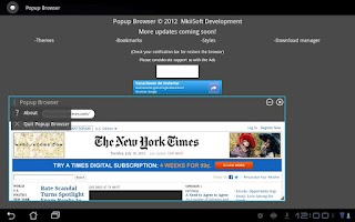 Screenshot of Popup Browser BETA