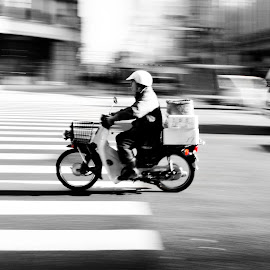 Chasing Time by Chris Bowers - Transportation Motorcycles ( chris bowers fish tokyo japan motorcycle )