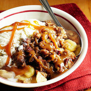 Nutty Caramel Apple Crisp