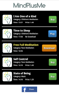 MindPlusMe Meditations - screenshot