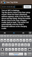 Screenshot of Samsung GALAXY NFC Tagwriter