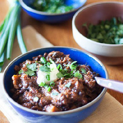 Black Bean, Sweet Potato and Quinoa Chili