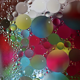 Amazing View by Janet Herman - Abstract Macro ( abstract, balls, macro, ellipses, floating, bubbles, close up, oil abstract )