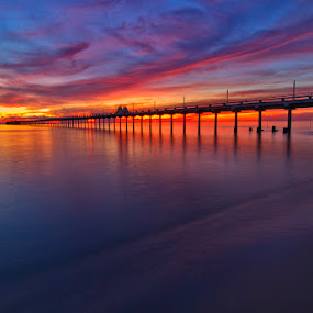 Morning Glow by Charliemagne Unggay - Landscapes Waterscapes ( water, sky, nature, colors, sunrise )
