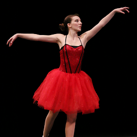 Ballerina in Red by Jerry Ehlers - News & Events Entertainment ( red, oklahoma, claremore, ballerina, dance )