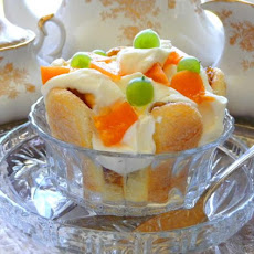 Apricot Gooseberry Layered Trifle Dessert With Mascarpone Cream