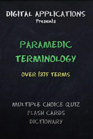 EMT PARAMEDIC TERMS AND QUIZ