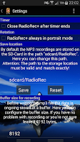 Screenshot of RadioRec+