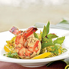 Vietnamese-style Prawns and Hearts of Palm with Green Tea-Noodle Salad