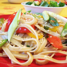Shanghai Pasta (With Shrimp and Sweet Bell Peppers)