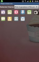 Screenshot of PINK CUPCAKE LITE GO LAUNCHER